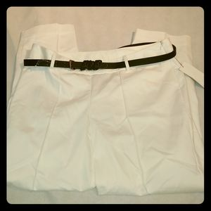 Worthington Modern Fit Ankle white pants 12 NWT